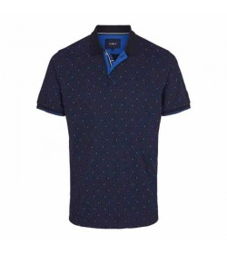 Signal polo Berry mini print pique Duke blue-20