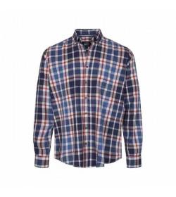 Signal skjorte Franne Check Red Brick-20