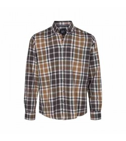 Signal skjorte Franne Check Brown Toast-20