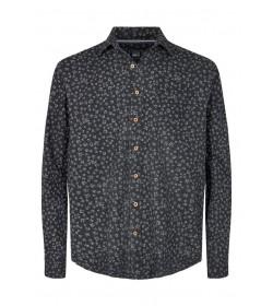 Signal skjorte Franne Print Black-20