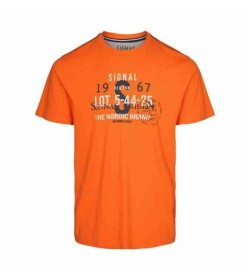 Signal t-shirt Gavin CP Orange fire melange-20
