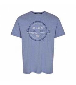 Signal t-shirt Gavin CP Clear blue melange-20