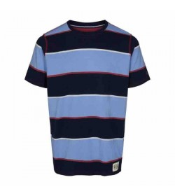 Signal t-shirt Brett 2 stripe Duke blue-20