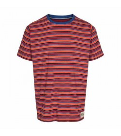 Signal t-shirt Brett 2 stripe Orange fire-20