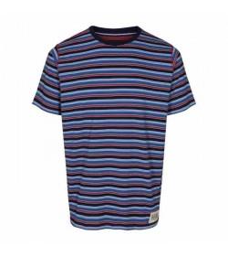 Signal t-shirt Brett 2 stripe Island blue-20
