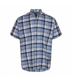 Signal kort ærmet skjorte Abel Island blue-20