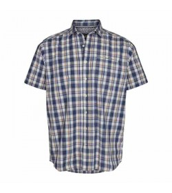 Signal kort ærmet skjorte Anders Chambray check cobber look-20
