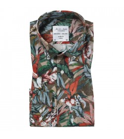 Seven Seas skjorte modern fit S20065 blomsteret-20