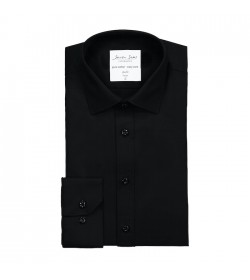 Seven Seas skjorte slim fit ss30 black-20