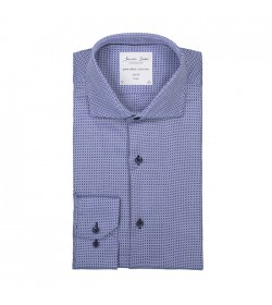 Seven Seas skjorte slim fit ss321 blue check-20