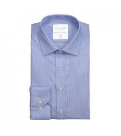 Seven Seas skjorte slim fit ss37 light blue stripe-20