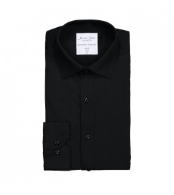 Seven Seas skjorte slim fit ss402 black-20