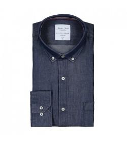 Seven Seas denim-skjorte modern fit SS500-20