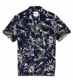Superdry kortærmet skjorte m4010010a Blue palm-20