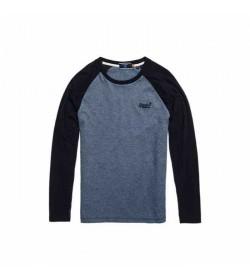 Superdry langærmet t-shirt M6010145A OL Baseball top-20