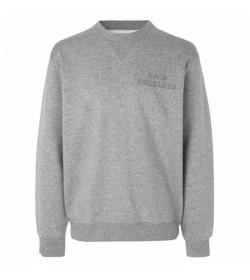 Mads Nørgaard sweatshirt 110309 Grey melange-20