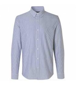 Mads Nørgaard skjorte Oxford Sawsett blue stripe-20