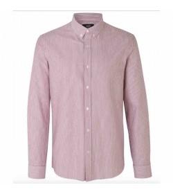 Mads Nørgaard skjorte Oxford Sawsett rio red stripe-20