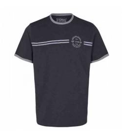 Signal t-shirt Aldo CP stripe Grey melange-20