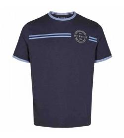Signal t-shirt Aldo CP stripe Duke blue melange-20