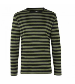 Mads Nørgaard langærmet t-shirt Tobias Forest Night/Black/Black-20