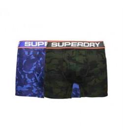 Superdry 2-pak tights m31001nt u2v blå/sort camo-20