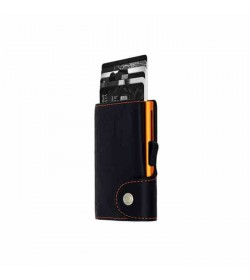 C-secure single wallet Black Nero / Orange cardholder-20